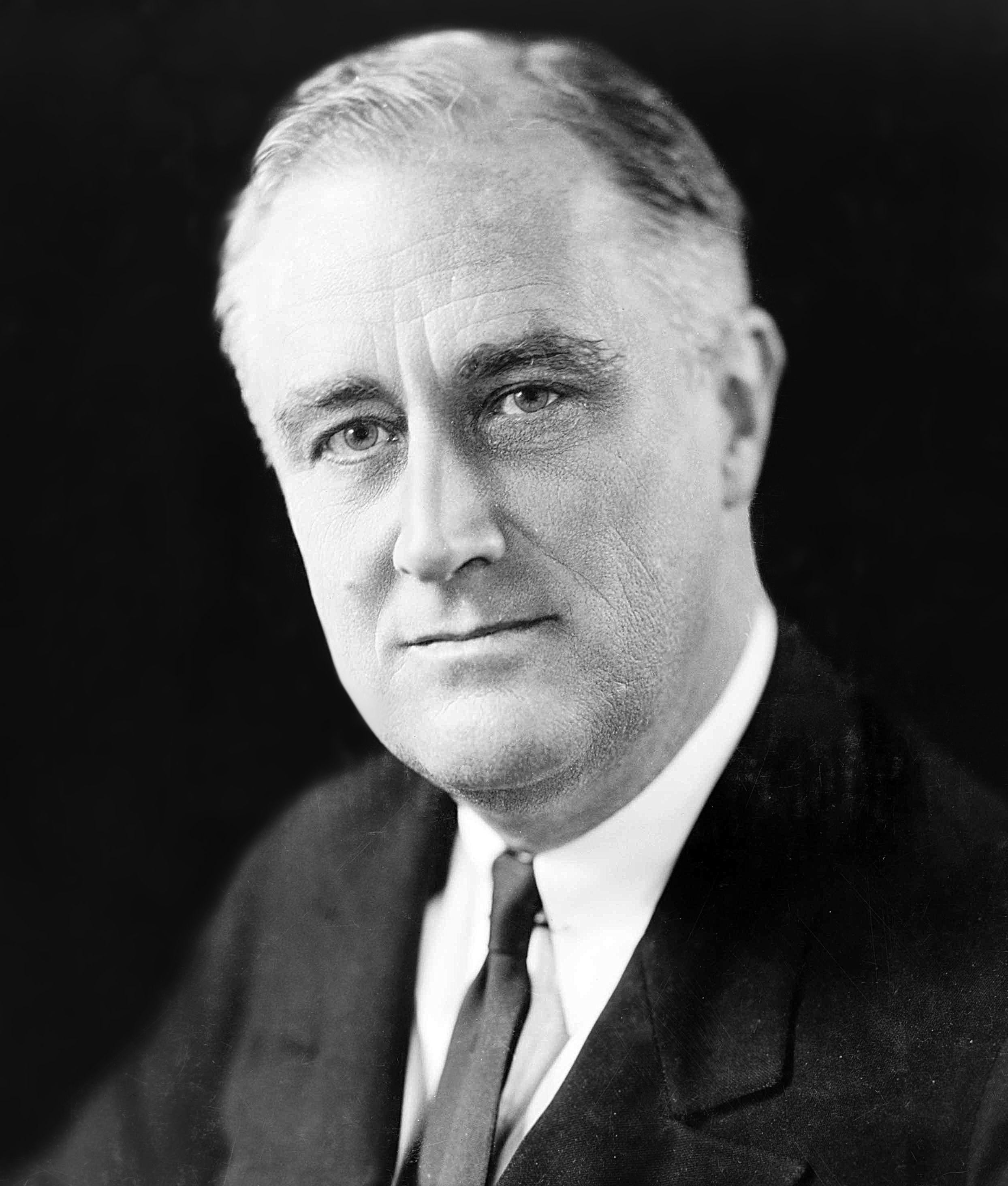Franklin D. Roosevelt el 27 de diciembre de 1933. Crédito: Wikipedia. Elías Goldensky.