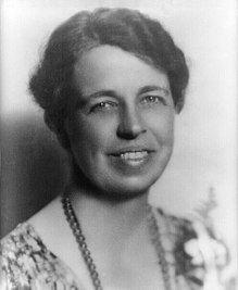Eleanor Roosevelt política americana, en 1933. Crédito: Wikipedia