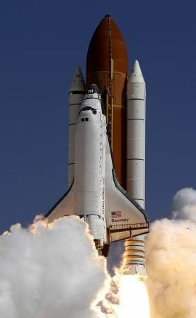 El Discovery es uno de los tres transbordadores de la NASA, junto con el Atlantis y el Endeavour. Crédito: web 20minutos.es