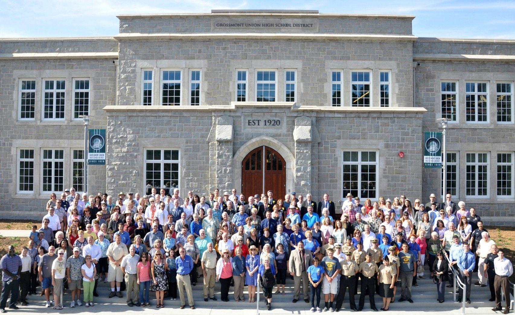 Edificio original de la Grossmont High School, en San Diego. Crédito: web timesofsandiego.com