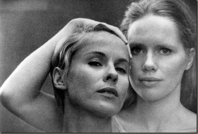 Liv Ullman interpretó a una actriz enferma. Bibi Andersson interpretó a la enfermera. Crédito: web culturacolectiva.com