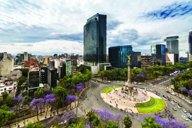 Avenida Paseo de la Reforma, ciudad de México. Crédito: web verne.elpais.com