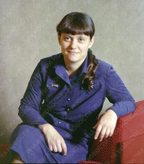 Svetlana Savitskaya se retiró de los vuelos espaciales en 1984. Crédito: web mundo.sputniknews.com