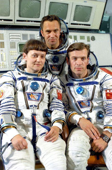 Svetlana Savitskaya inspiraba confianza a sus compañeros en el viaje espacial. Crédito: web mundo.sputniknews.com