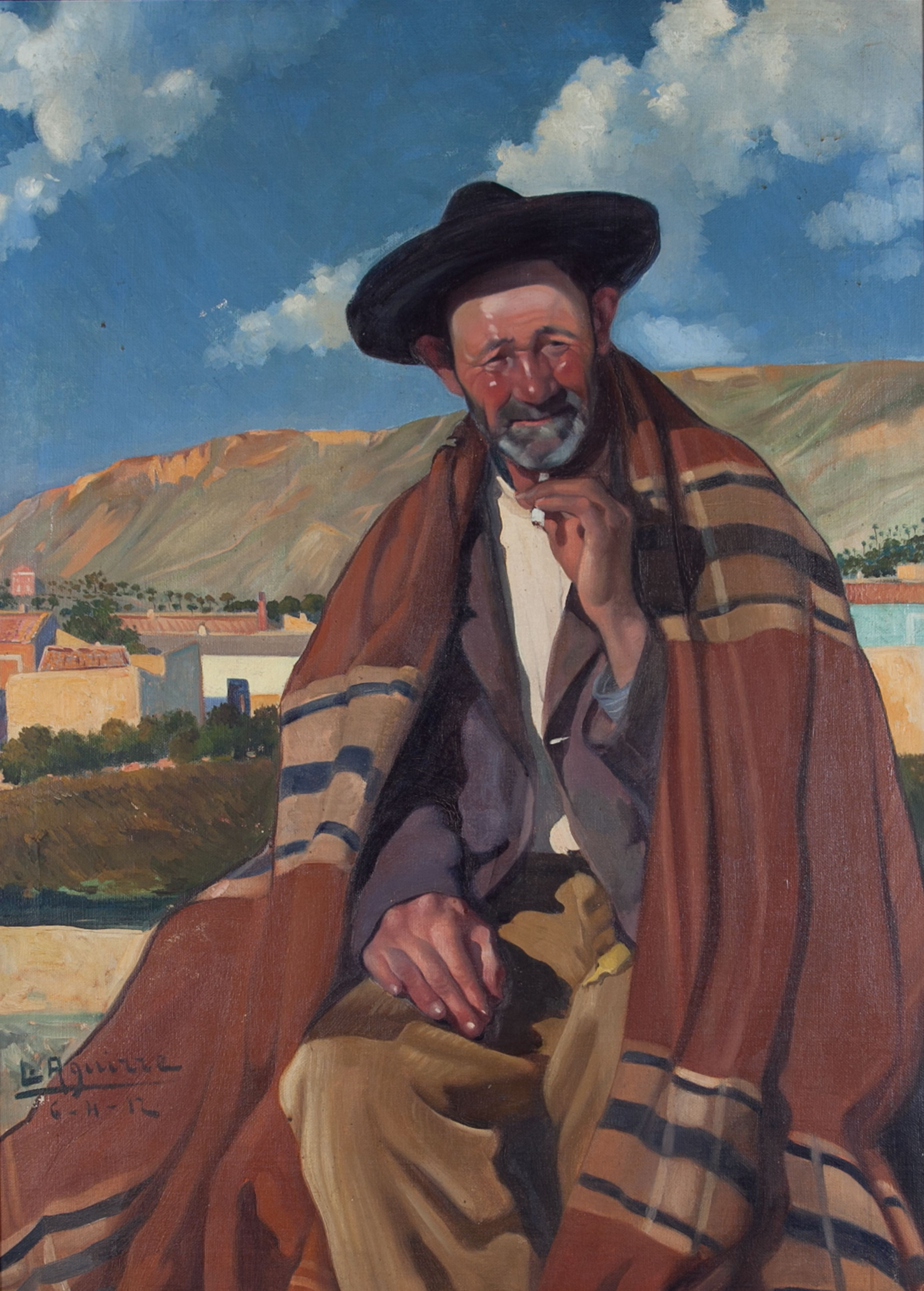 """""""El viejo campesino"""", obra de Lorenzo Aguirre, que se conserva en la Colección de Arte del Ayuntamiento de Alcoy. Crédito: web artalcoi.org.es"""