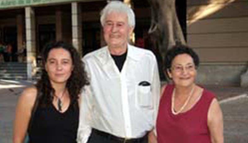 Guadalupe, Félix y Francisca, en un evento literario celebrado en Murcia. Crédito: Héctor Castilla. Web hectorcastilla.wordpress.com