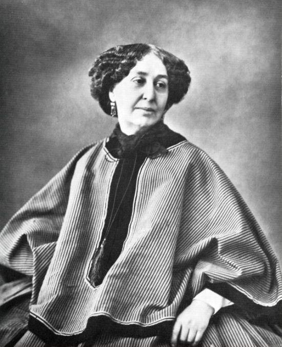 Madame Sand la gran escritora que vivió su vida con libertad y generosidad. Crédito: web historiaenfemenino.wordpress.com