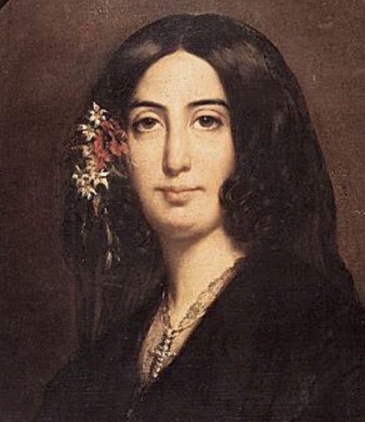 George Sand en un retrato de juventud pintado por Eugéne Delacroix. Crédito: web tuttartpitturasculturapoesiamusica.com