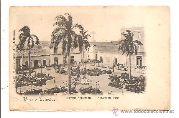 Postal antigua de Puerto Príncipe, en Cuba. Crédito: web todocoleccion.net
