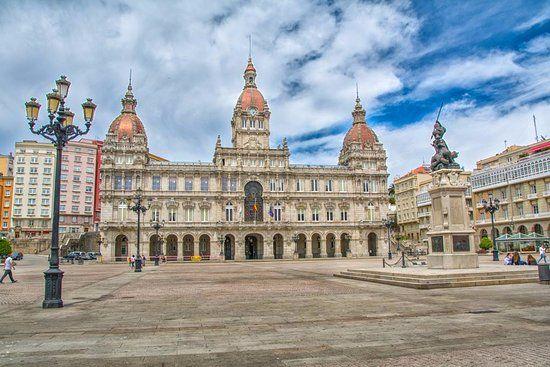 Edificio del Ayuntamiento de La Coruña, Plaza de María Pita. Crédito: web tripadvisor.es