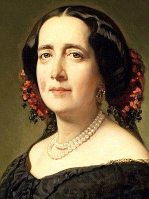 Retrato de Gertrudis Gómez, realizado en 1857. Es una pintura al óleo que se conserva en el museo Lázaro Galdiano, en Madrid. Crédito: web escritoras.com