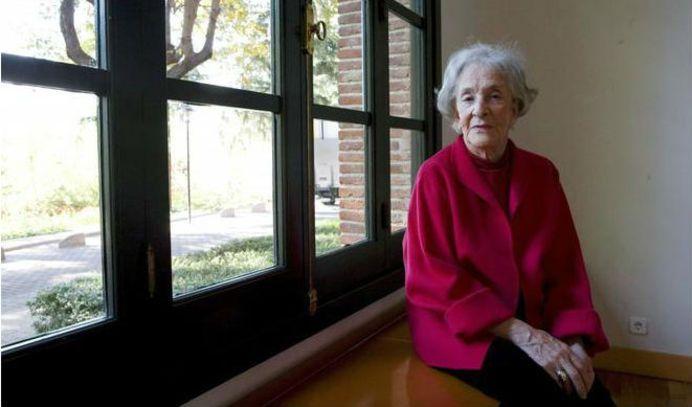 La poetisa Ida Vitale en la Residencia de Estudiantes de Madrid, en noviembre de 2018. Crédito: web elmundo.es/cultura/literatura