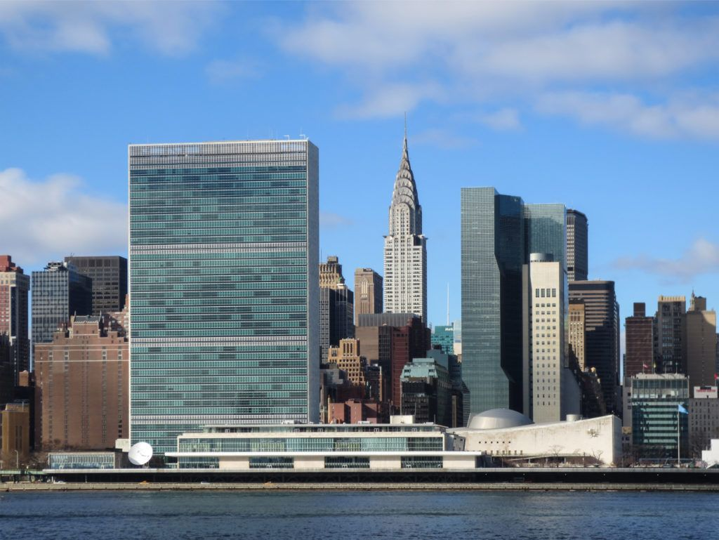 Sede de la ONU en Nueva York. Crédito: web es.wikiarquitectura.com