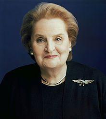Madeleine Albright ha sido una de las personas más brillantes en la política norteamericana. Crédito: web en.wikipedia.org