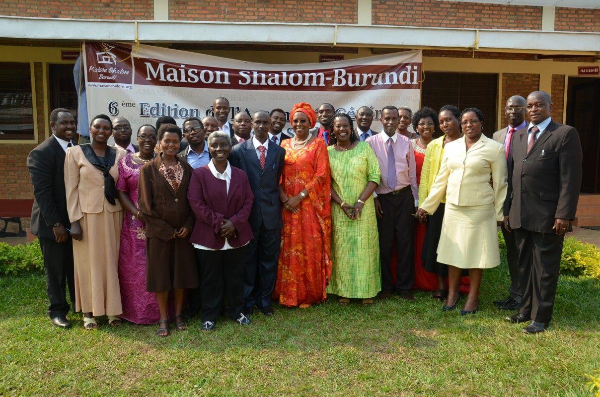 Asamblea de la ONG Maison Shalom, en Burundi, en 2014. Crédito: web maisonshalom.org