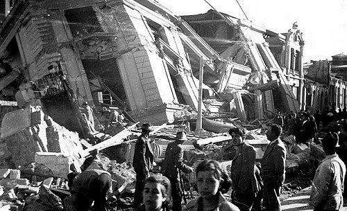 El terremoto de 1939 causó catastróficos efectos en la ciudad de Concepción. Crédito: Osvaldo Mondaca. Web figueroa1988.wordpress.com