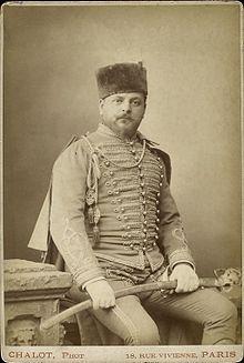 Jacques Damala murió a los 42 años, en 1889, por los efectos del abuso continuado de la morfina. Crédito: web en.wikipedia.org