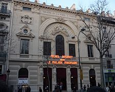 El teatro Porte-Saint-Martin fue una sala de espectáculos situada en el 16 del boulevard Saint Martin. Crédito: web es.wikipedia.org