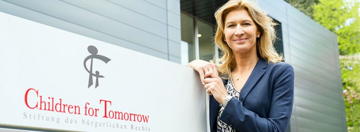 "Steffi Graf, generosa fundadora de ""Children for  Tomorrow"". Crédito: web children-for-tomorrow.com"