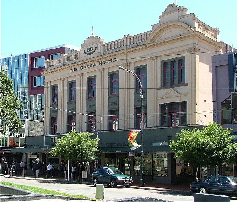 Opera House en Wellington, Nueva Zelada. Crédito: K.Hanger, en la web de en.wikipedia.org