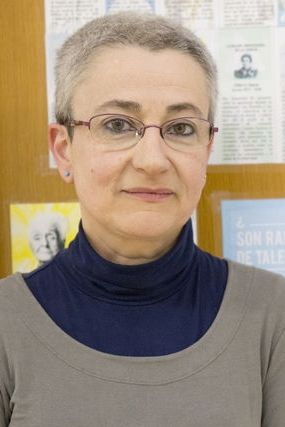 Marta Macho Stadler en 2015, cuando recibió la Medalla de la Real Sociedad Española de Matemáticas. Crédito: web activatuneurona.wordpress.com