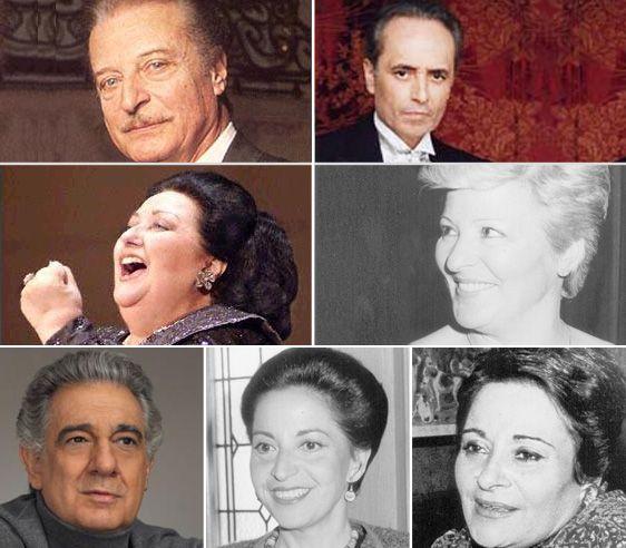 Victoria de los Ángeles y los mejores representantes de la lírica española. Crédito: web fpa.es