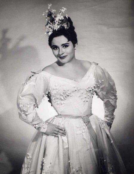 Victoria de los Ángeles en su última actuación en escena, en el Teatro de la Zarzuela de Madrid. Crédito: web operaworld.es