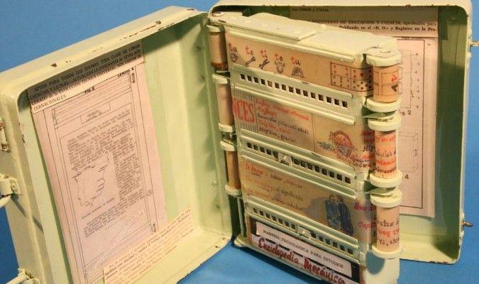 La enciclopedia mecánica fue una semilla del e-book. Crédito: Anabel Rodríguez, web El Correo de Andalucía.