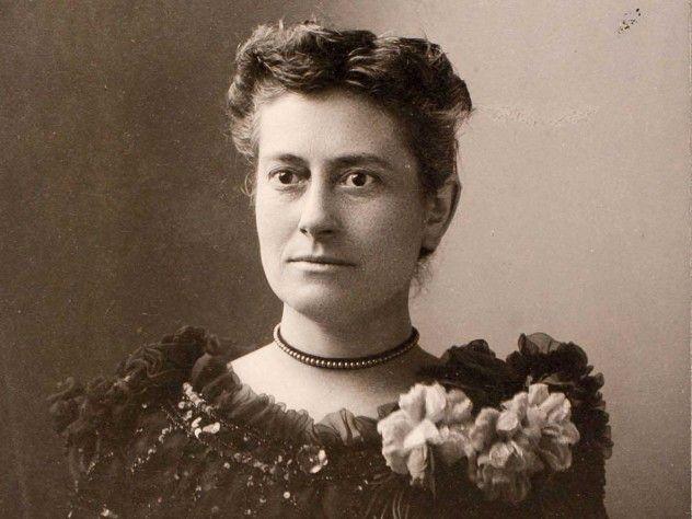 La joven Williamina Fleming, astrónoma estadounidense, de origen escocés.Crédito: web harvardmagazine.com