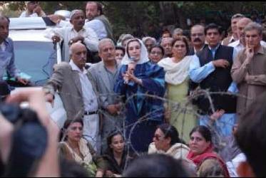 Benazir Bhutto arrestada
