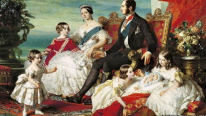 Reina Victoria y su familia