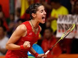 Carolina Marín celebra triunfo