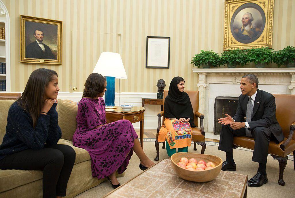 Malala Yousafzai y Barack Obama