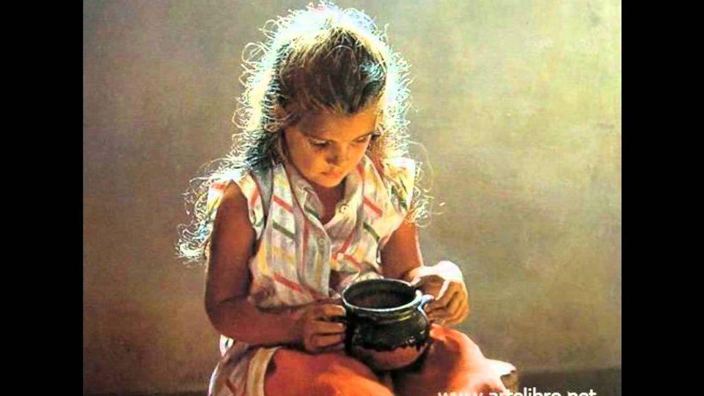 Isabel Guerra pintura niña