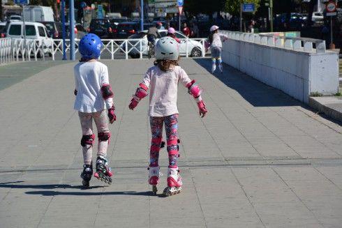 Niñas patinadoras